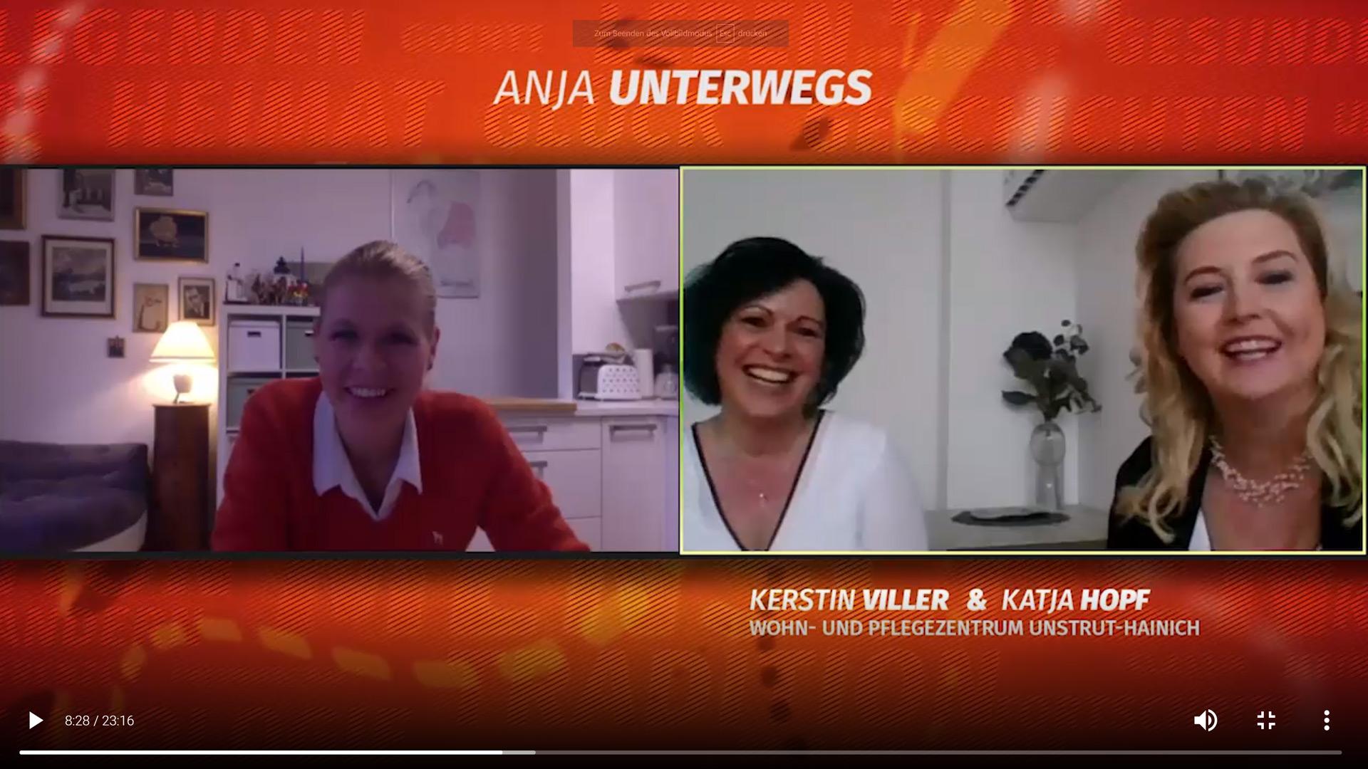 Anja digital unterwegs im Pflegezentrum / Salve TV