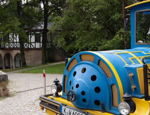 Ausflug vor die Tore der Stadt Mühlhausen mit der Gecko Bahn